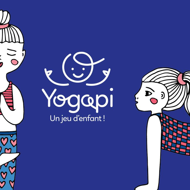 YOGAPI - Ateliers de yoga pour enfants - Identité visuelle - Bob & Simone