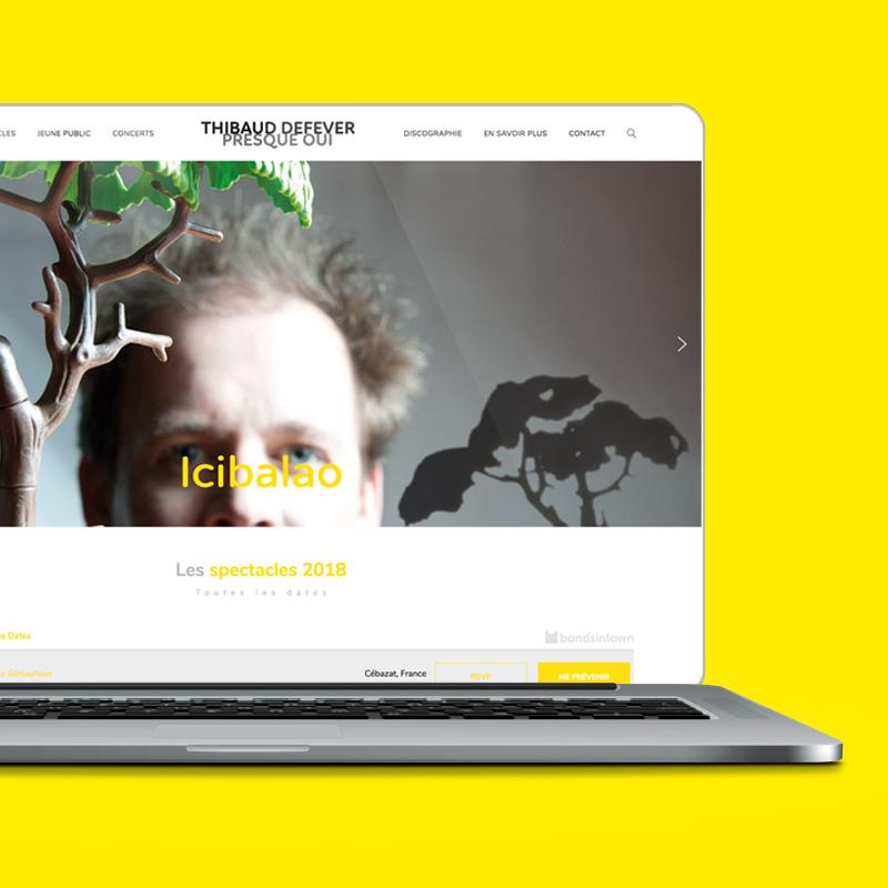 PRESQUE OUI - Conception du site internet - Bob & Simone
